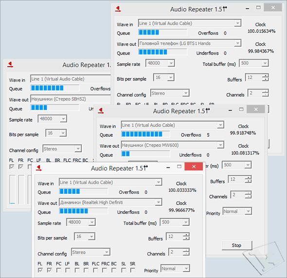 подключение к компьютеру нескольких гарнитур с помощью виртуального кабеля